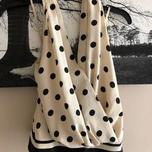 The Limited  Polka Dot Draped Halter Top